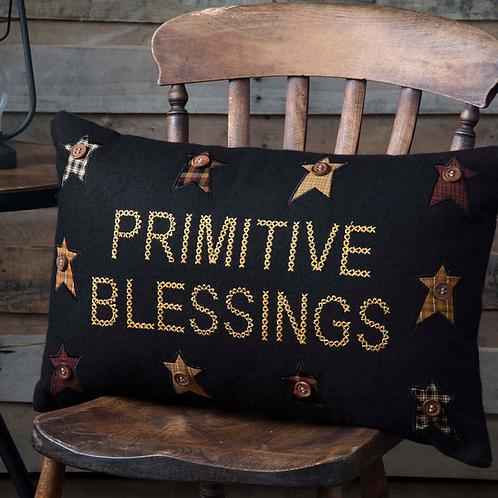 COUNTRY PRIMITIVE HERITAGE FARMS PRIMITIVE BLESSINGS PILLOW 14 X 22