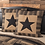 Thumbnail: COUNTRY PRIMITIVE BLACK CHECK STAR QUILTED EURO SHAM 26X26