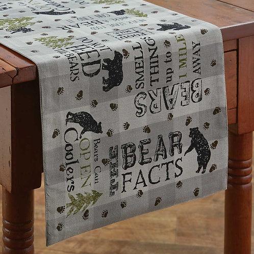 Park Designs BEAR FACTS TABLE RUNNER