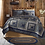 Thumbnail: Country Primitive Blue Patchwork VHC COLUMBUS QUILT 120W X 105L