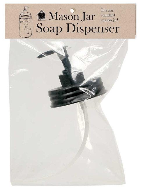 Mason  Jar Soap Dispenser Lid Black