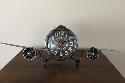 Rustic Vintage Looking Metal Airplane Clock