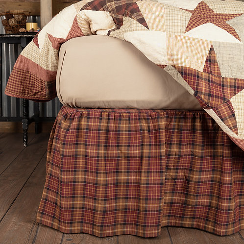 VHC Country Primitive ABILENE STAR TWIN BED SKIRT