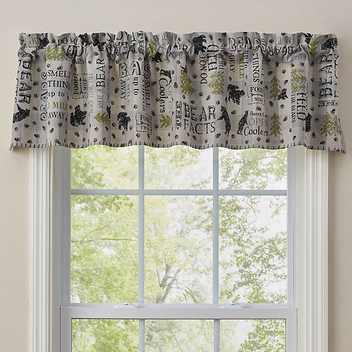 Park Designs BEAR FACTS LINED VALANCE