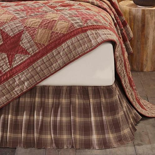 VHC COUNTRY PRIMITIVE FARMHOUSE DAWSON STAR BED SKIRT
