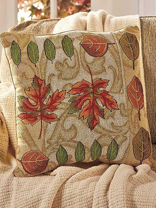 "Autumn Fall Leaf large 17"" Pillow"