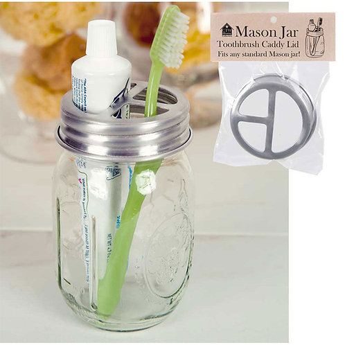 CTW Mason Jar Toothbrush Holder