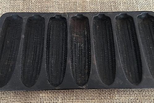Antique Vintage Cast Iron Corn Bread Pan Mold 6 Ears
