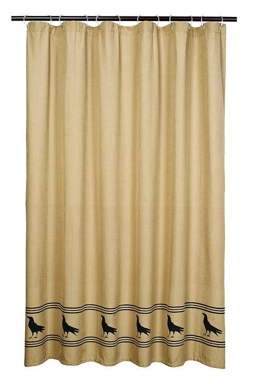 Olde Crow Shower Curtain Olde Crow Shower Curtain