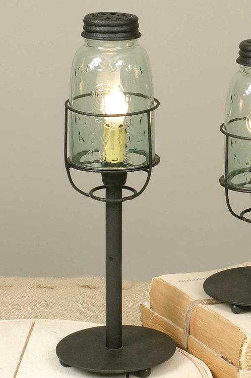 Medium Electric Mason Jar Desk Lamp