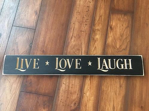 "24"" Wooden Sign Live Love Laugh"