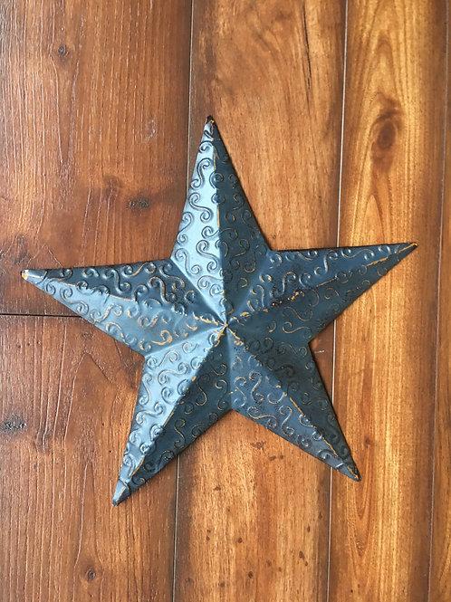 "12"" Metal Star Blue & Gold"