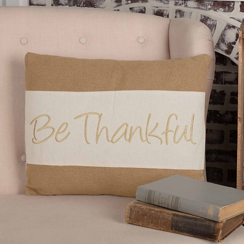 VHC BE THANKFUL PILLOW 14X18