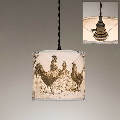 Chicken Canvas Pendant Lamp Light