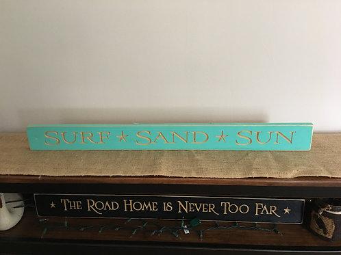"Surf Sand & Sun 36"" Wooden Signs"