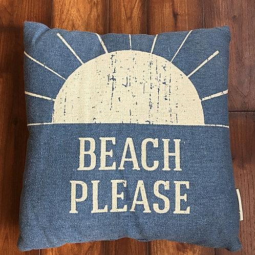 Beach Please Pillow Primitves by Kathy