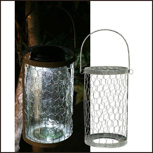 Hanging Chicken Wire Quart Mason Jar Caddy
