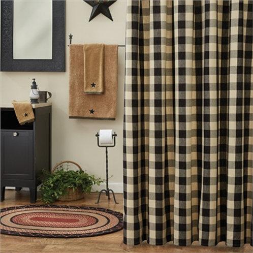 Wicklow Shower Curtain - Black & Tan