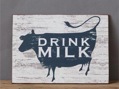 Farmhouse Cow Sign- Drink Milk
