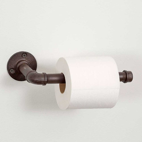 Farmhouse Cabin Rustic Industrial Toilet Paper Holder