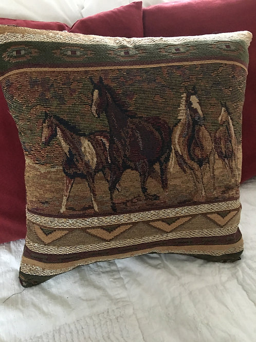 """16"""" Horse Pillow Double Sided"""