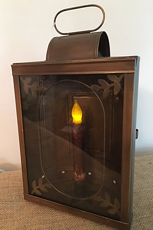 Primitive Country Copper Brown Lantern
