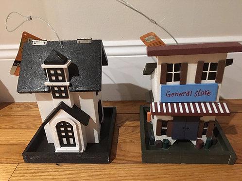 Royal Wing Wooden Birdhouse Feeder