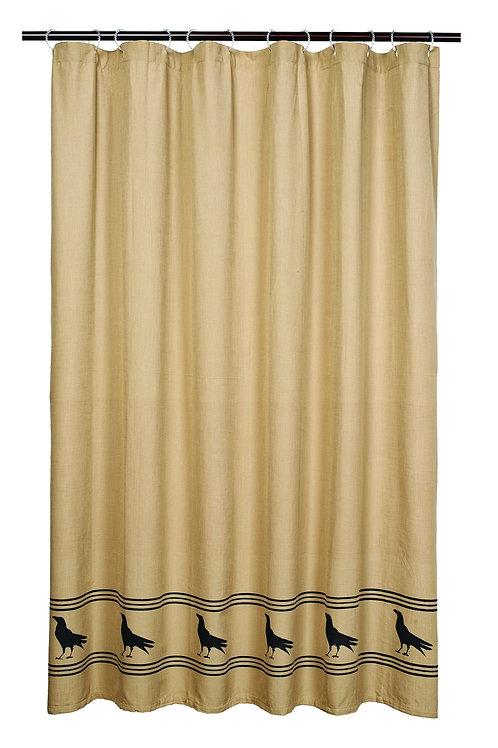 Primitive Olde Crow Shower Curtain