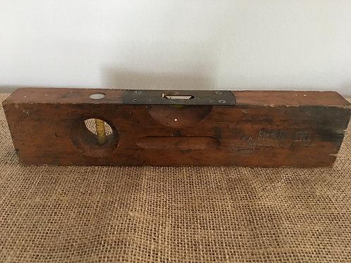 """Antique 12"""" Wooden Level"""