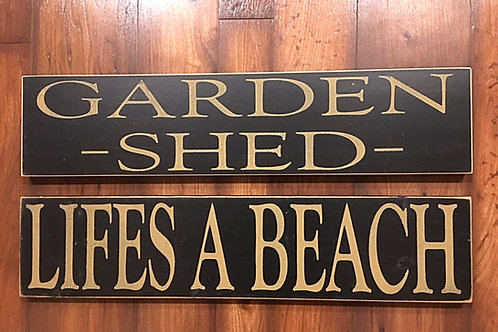 """Wooden Signs 24"""" x 5 1/2"""" USA MADE"""