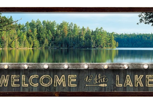 Welcome to the Lake LED Lighted Wood Sign