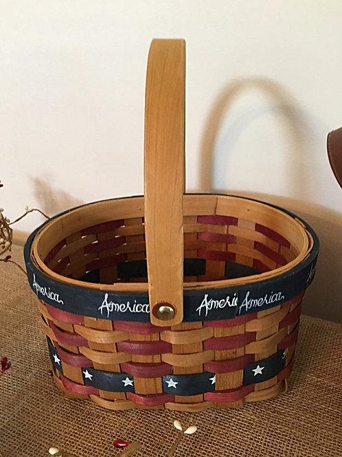 Round Patriotic Basket