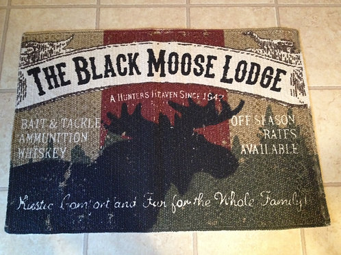 India Home Fashions Country Primitive Rug Moose Lodge