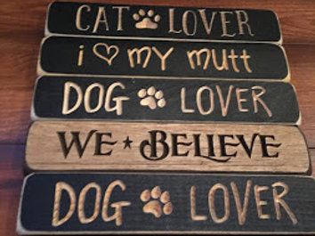 """9"""" Wooden Engraved Sign MADE IN USA"""