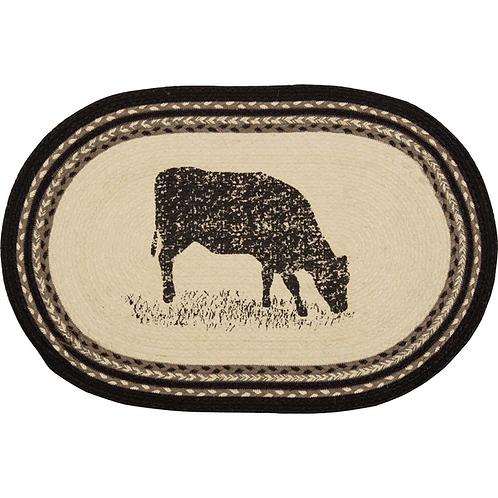SAWYER MILL COW JUTE RUG