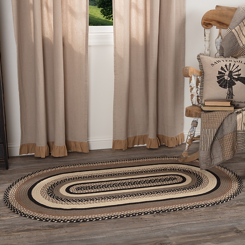 COUNTRY PRIMITIVE SAWYER MILL CHARCOAL JUTE OVAL RUG