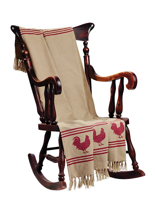 Red Rooster Throw