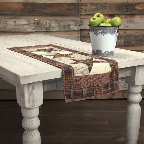 VHC Country Primitive ABILENE STAR QUILTED RUNNER