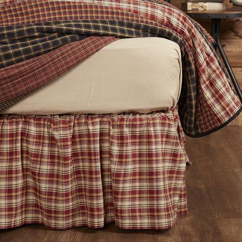 VHC BECKHAM PLAID BED SKIRT