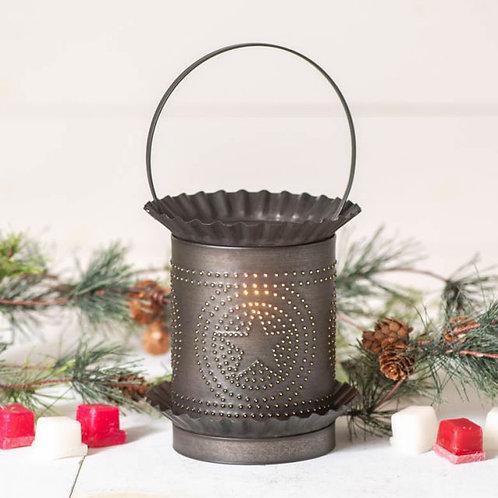Irvin's Tinware Jumbo Wax Warmer with Regular Star in Kettle Black
