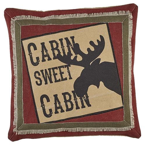 Cabin Sweet Cabin Pillow- Button Off