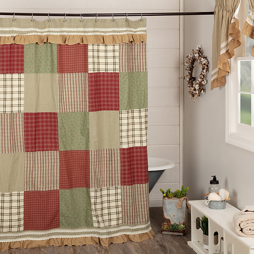 Country Primitive VHC PRAIRIE WINDS SHOWER CURTAIN 72 X 72