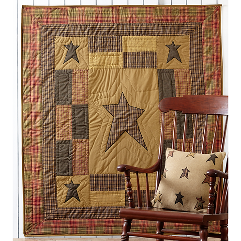 VHC STRATTON QUILTED THROW 60X50