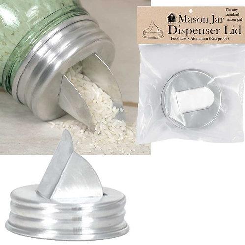 Farmhouse Country Mason Jar Aluminum Grain Dispenser Lid