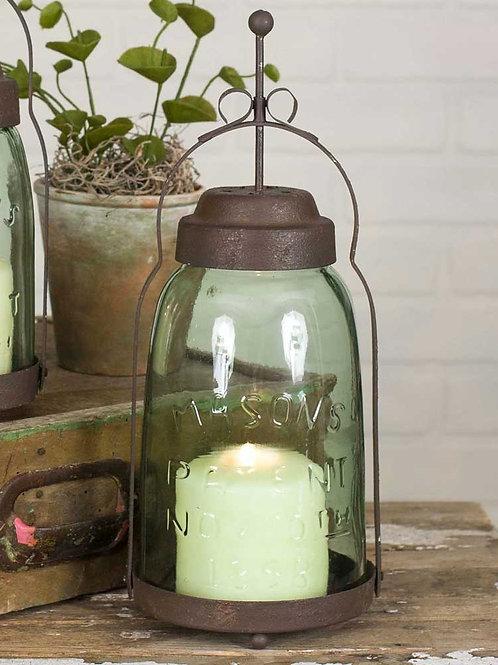 Farmhouse Rustic Half Gallon Mason Jar Butler Lantern