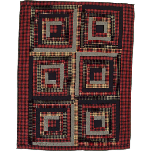 Rustic Cabin Lodge Farmhouse CUMBERLAND QUILTED THROW 70X55