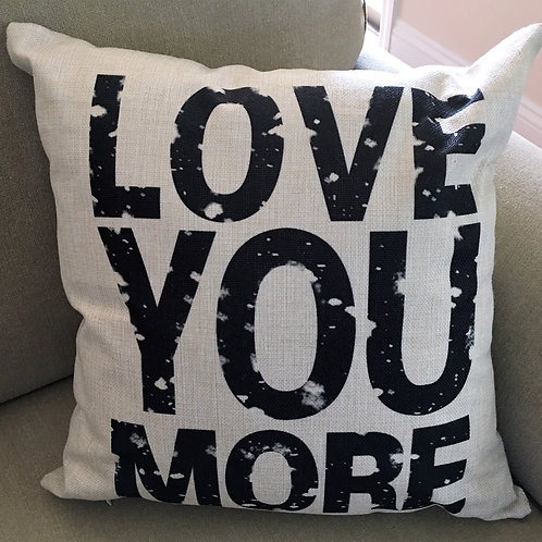 Country Primitive Pillow Love You More