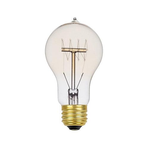 60-Watt Incandescent A19 Vintage Quad Loop Medium Base Light Bulb Dimmable 01325