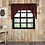 Thumbnail: Rustic Cabin Lodge Red CUMBERLAND SWAG CURTAIN SET OF 2 36 X 36 X 16