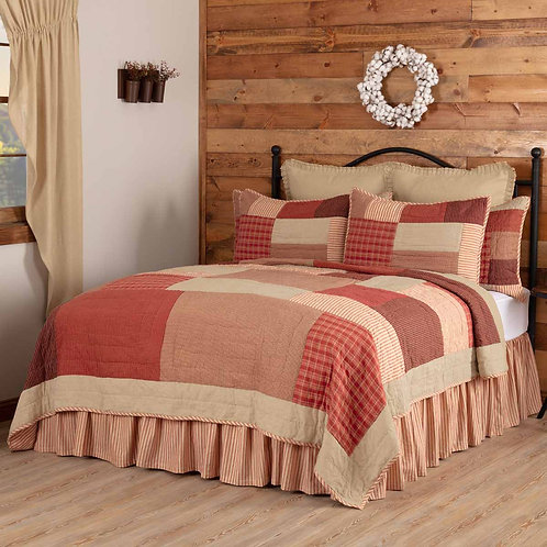 Rory Schoolhouse Red Quilt Set- Quilt + Shams